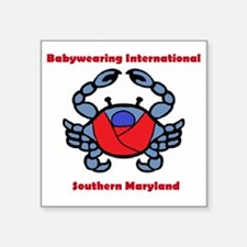 "Crab Logo Square Sticker 3"" x 3"""