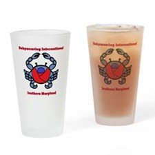 Crab Logo Drinking Glass