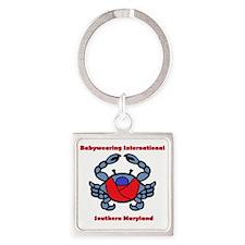 Crab Logo Square Keychain