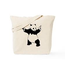 Panda guns Tote Bag