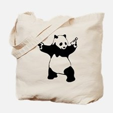 Panda guns Tote Bag