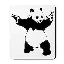 Panda guns Mousepad