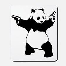 Panda guns Mousepad