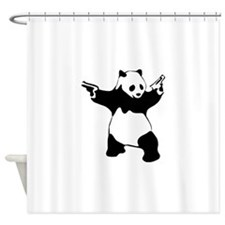Panda guns Shower Curtain