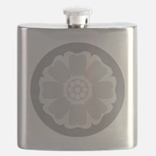 White Lotus Tile Flask
