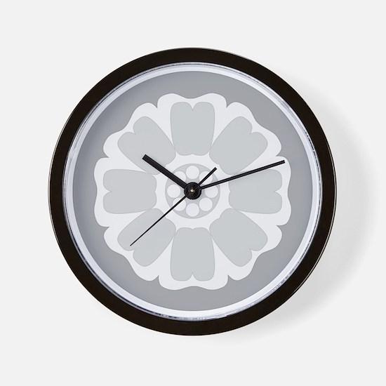 White Lotus Tile Wall Clock