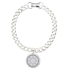 White Lotus Tile Bracelet