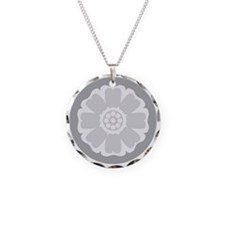 White Lotus Tile Necklace