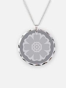 White Lotus Tile Necklace