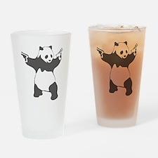 Panda guns Drinking Glass