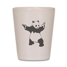 Panda guns Shot Glass