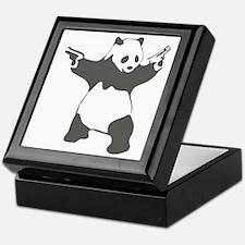 Panda guns Keepsake Box