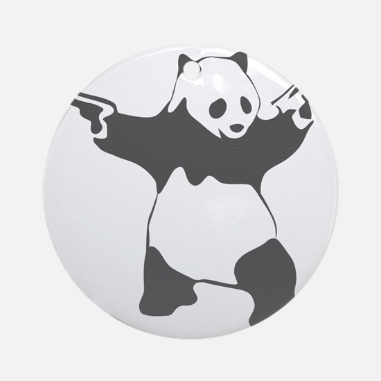 Panda guns Round Ornament