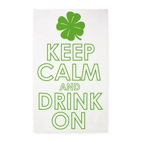 Keep calm and drink on 3'x5' Area Rug