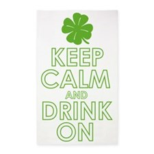 Keep calm and drink on 3'x5' Area Rug