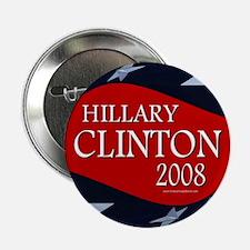 Hillary 3-D Stars Button