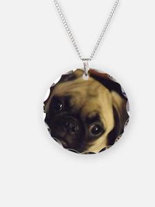 Adorable fawn pug puppy face Necklace