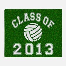 Class Of 2013 Volleyball Throw Blanket