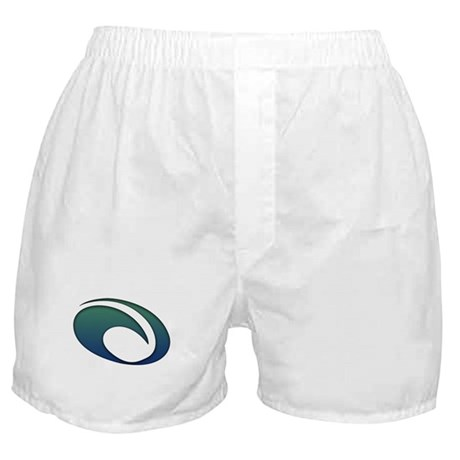 OMaui White Logo Boxer Shorts