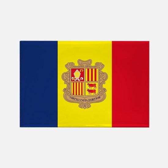 Cute Andorran Rectangle Magnet