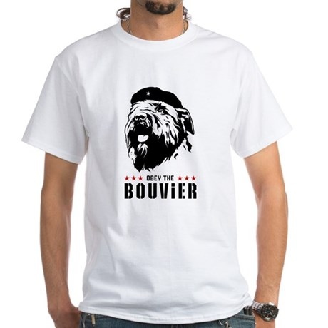 Obey the Bouvier! white t-shirt