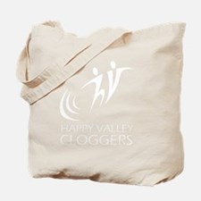 White Logo Tote Bag