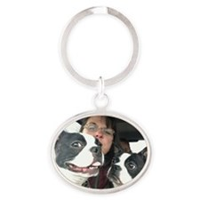 The Look Oval Keychain