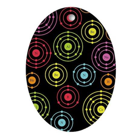 Periodic Shells (Dark) Oval Ornament