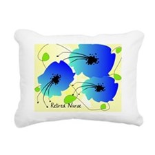 Retired Nurse Blue flowe Rectangular Canvas Pillow
