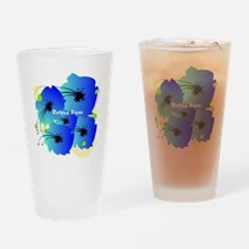 Retired Nurse Blue Flowers Drinking Glass