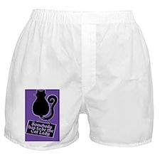 Cat Lady Purple Boxer Shorts