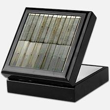 Tin Row Grunge Shower Curtain BU Keepsake Box