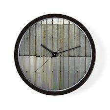 Tin Row Grunge Shower Curtain BU Wall Clock
