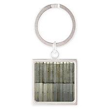 Tin Row Grunge Shower Curtain BU Square Keychain