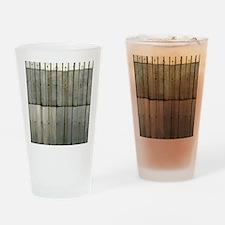 Tin Row Grunge Shower Curtain BU Drinking Glass