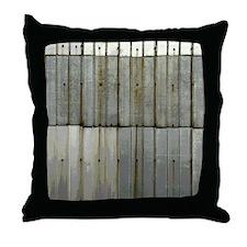 Tin Row Grunge Shower Curtain BU Throw Pillow
