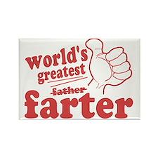 Worlds Greatest Farter Rectangle Magnet
