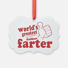 Worlds Greatest Farter Ornament