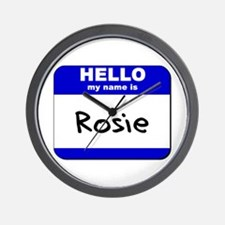 hello my name is rosie  Wall Clock