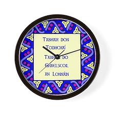 Gaelscoil an Lonnáin Wall Clock