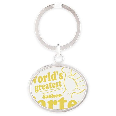 Worlds Greatest Farter Oval Keychain