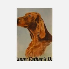 Irish Setter Fathers Day Card Rectangle Magnet