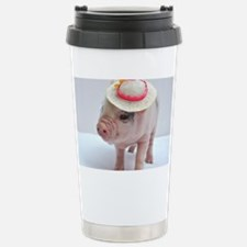 Micro pig wearing Summe Travel Mug