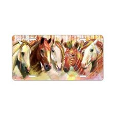 The Paddock in Pastel Aluminum License Plate