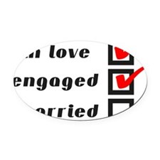 Engaged Oval Car Magnet
