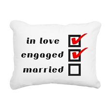 Engaged Rectangular Canvas Pillow