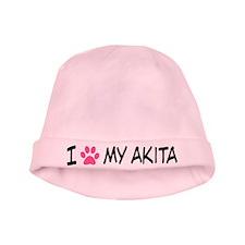 I Heart My Akita baby hat