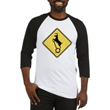 Deer on Scooter Crossing Baseball Jersey