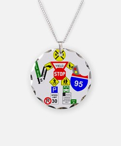 Street Sign Warrior Necklace