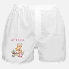 Navy Brat  Baby Girl  (Pink) Boxer Shorts